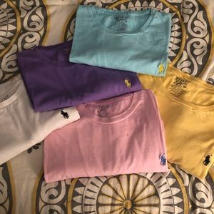 5 men's short sleeve Polo Ralph Lauren T-Shirts